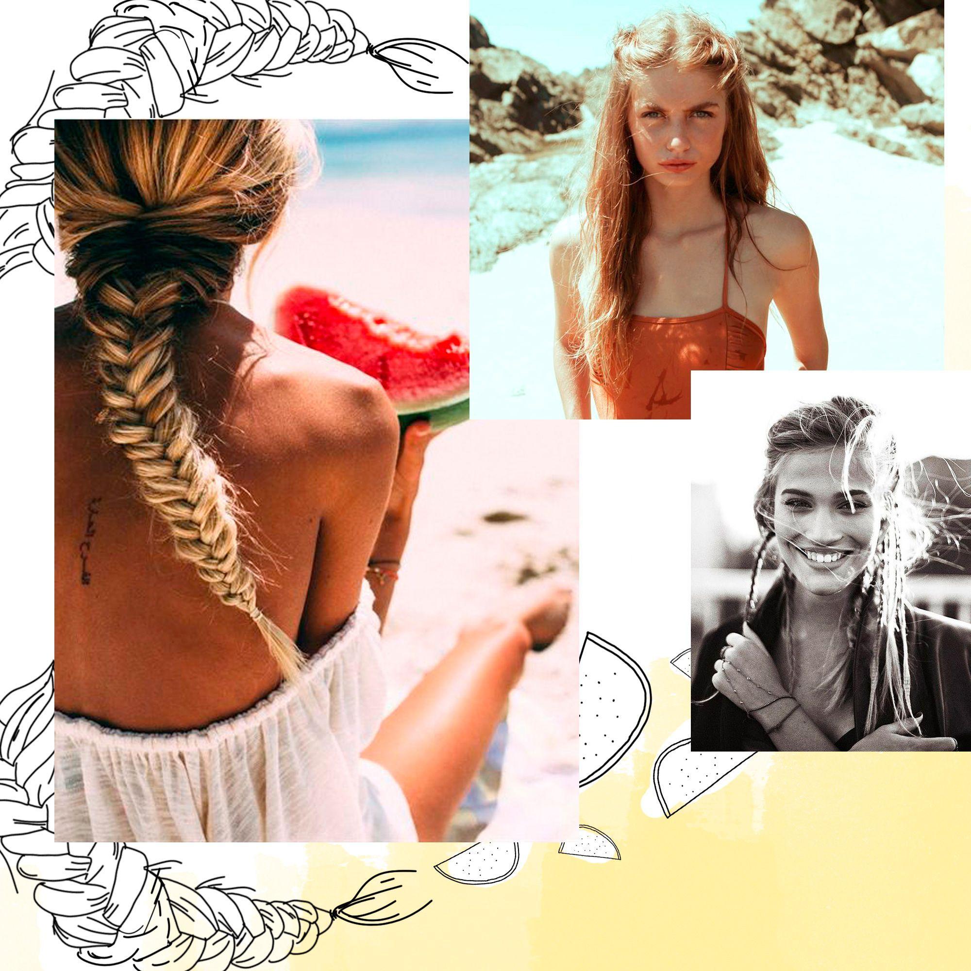 33 idées pour une jolie coiffure de plage