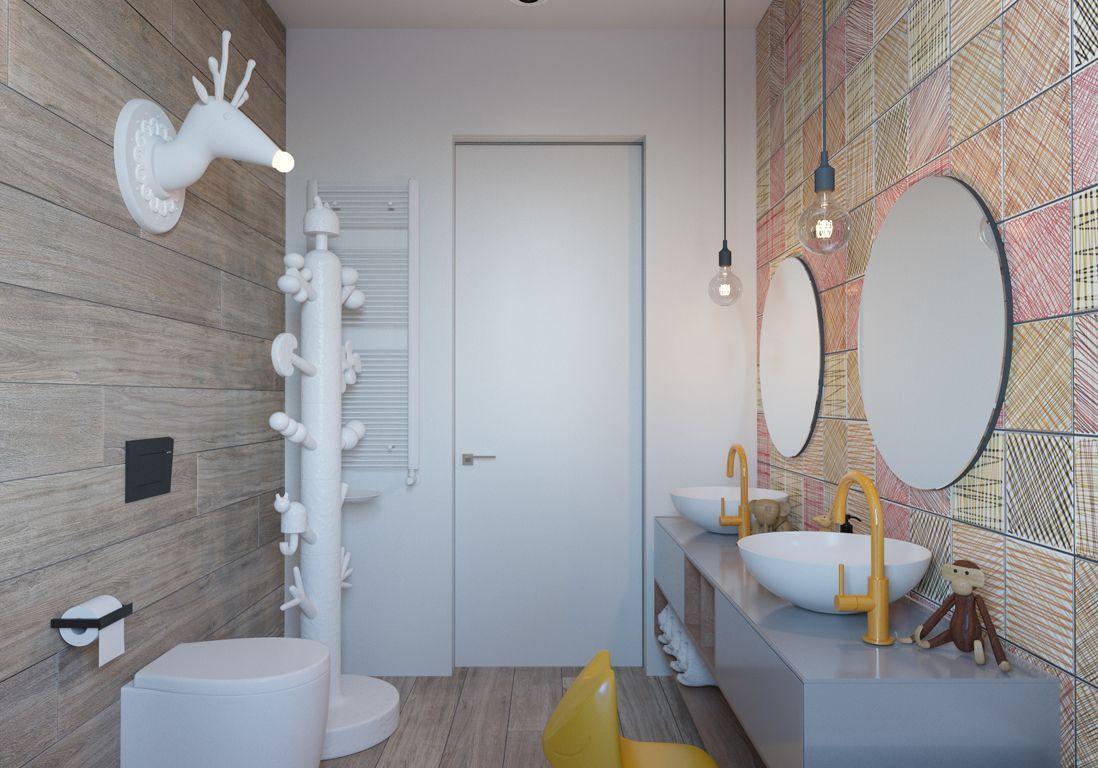 Salle de bains enfant nos inspirations pour une salle de for Deco salle de bain disney