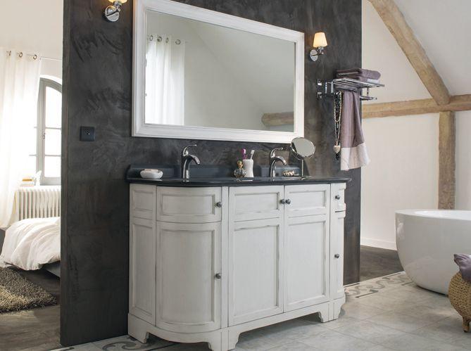 Un meuble ancien pour ma salle de bains elle d coration - Meuble pour piece mansardee ...