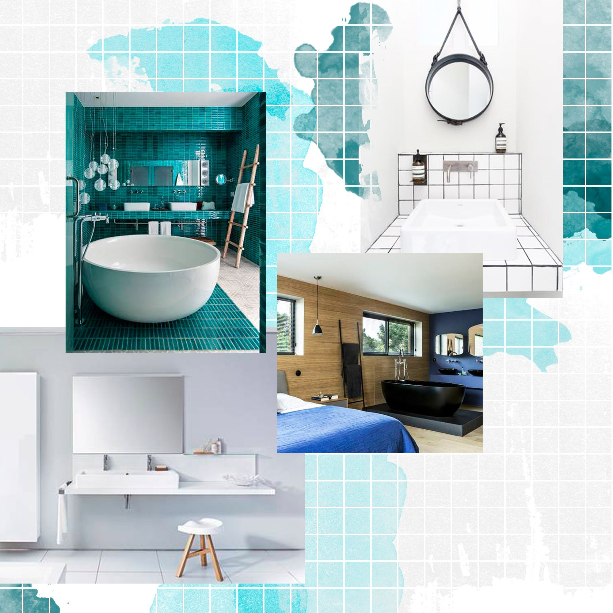 Nos id es avec des meubles de salle de bains design elle d coration - Idee salle de bains ...