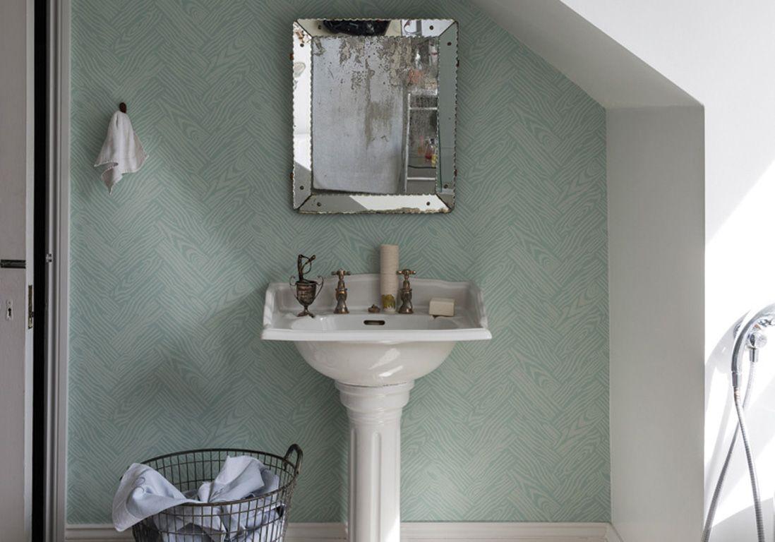 J 39 ose le papier peint dans ma salle de bains elle d coration - Salle de bain de 5m2 ...