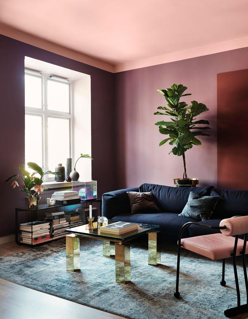 Elegant Un Plafond En Couleur Pour Réveiller Une Pièce Bonnes Idees