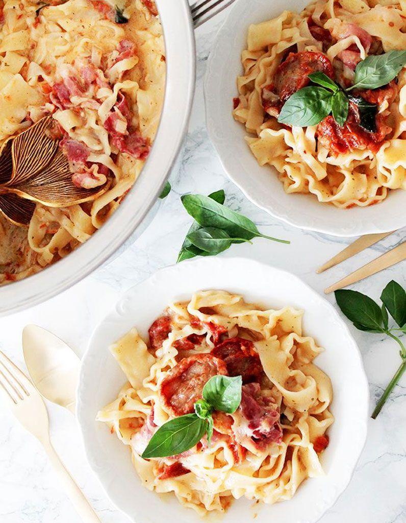 Je mets quoi dans mon one pot pasta ?