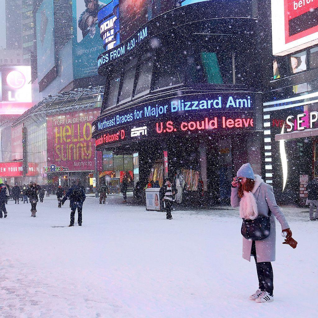 New York sous la neige : les premières photos