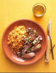 cornets de riz au chorizo pour 4 personnes recettes elle table. Black Bedroom Furniture Sets. Home Design Ideas