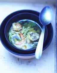Bouillon à la thaïe aux crevettes