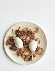 Pommes de terre, crème de crevettes