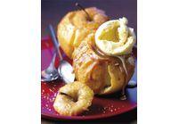 Pommes au four au carambar et glace vanille