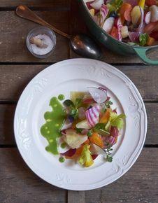 Légumes de printemps à la menthe