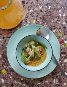 Soupe Tom Kha Kai de gambas