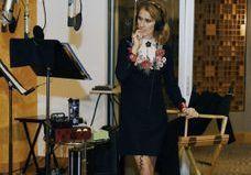 Céline Dion hyperlookée, même en studio d'enregistrement
