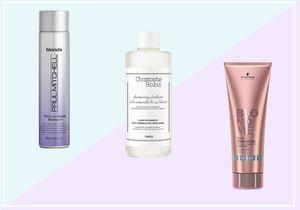 10 shampoings déjaunissants pour éviter le jaune poussin