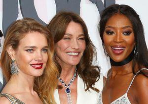 Cannes 2018 : Naomi Campbell et Carla Bruni complices pour le défilé Fashion For Relief