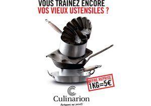 Opération Culinarion : échangez vos anciens ustensiles contre des bons d'achats