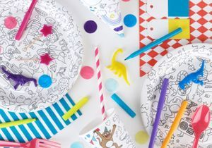 Une déco à colorier pour les enfants