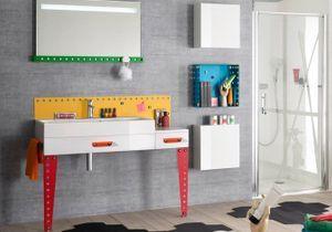 L'inspiration du jour : des meubles de salle de bains pour enfants