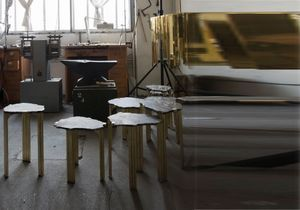 Visite de l'atelier d'artiste de Taher Chemirik