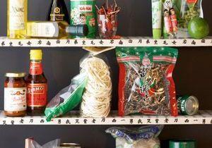 Des produits du placard asiatiques