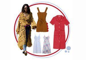 12 robes d'été que l'on shoppe pour un avant-goût ensoleillé
