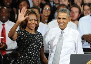 Le look du jour : Michelle Obama, toujours amoureuse du président