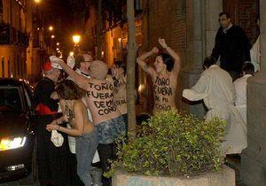 Droit à l'IVG : l'archevêque de Madrid attaqué par les Femen