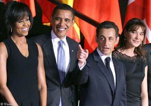 Les Sarkozy et les Obama : un dîner intime pour le 30 mars
