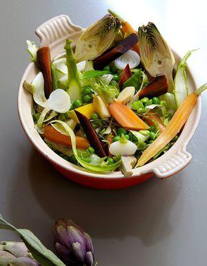 Cocotte de légumes du printemps