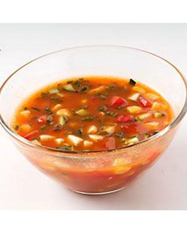 soupe glac e la tomate pour 4 personnes recettes elle. Black Bedroom Furniture Sets. Home Design Ideas