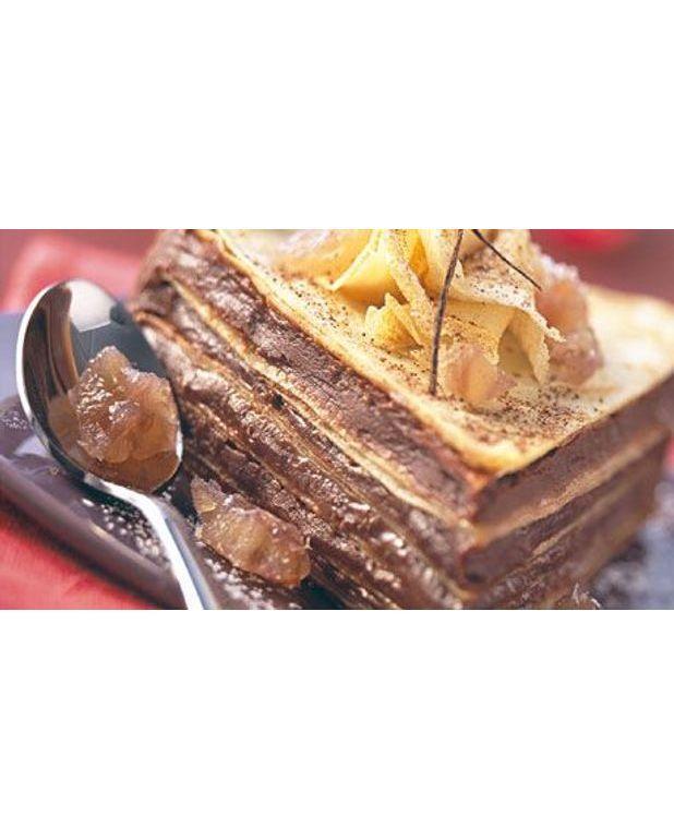 G teau de cr pes la cr me de marrons pour 7 personnes recettes elle table - Recette gateau chocolat creme de marron ...