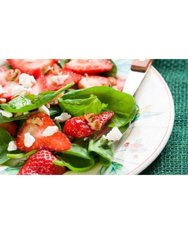Salade d pinards et de fraises pour 4 personnes for Fraise pour perceuse dijon