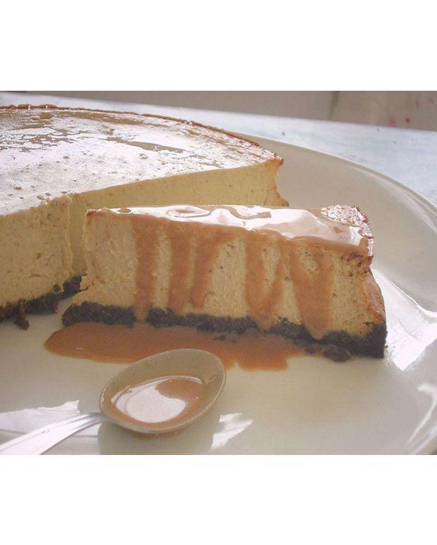 Cheesecake banane sauce caramel aux fruits de la passion pour 8 personnes recettes elle table - Cheesecake fruit de la passion ...