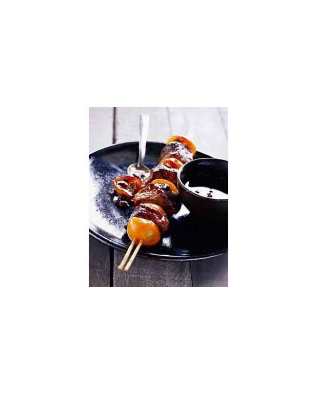 brochette de canard aux fruits