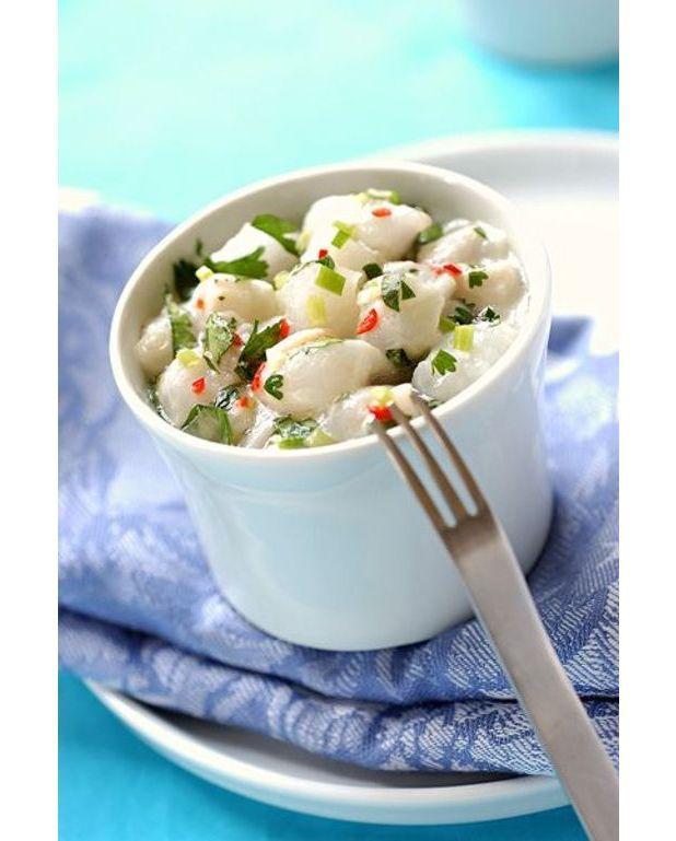 ceviche de poisson à la tahitienne - recettes elle à table