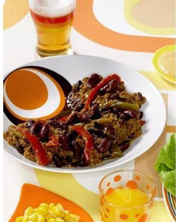 Chili con carne pour 4 personnes recettes elle table - Recette chili cone carne thermomix ...