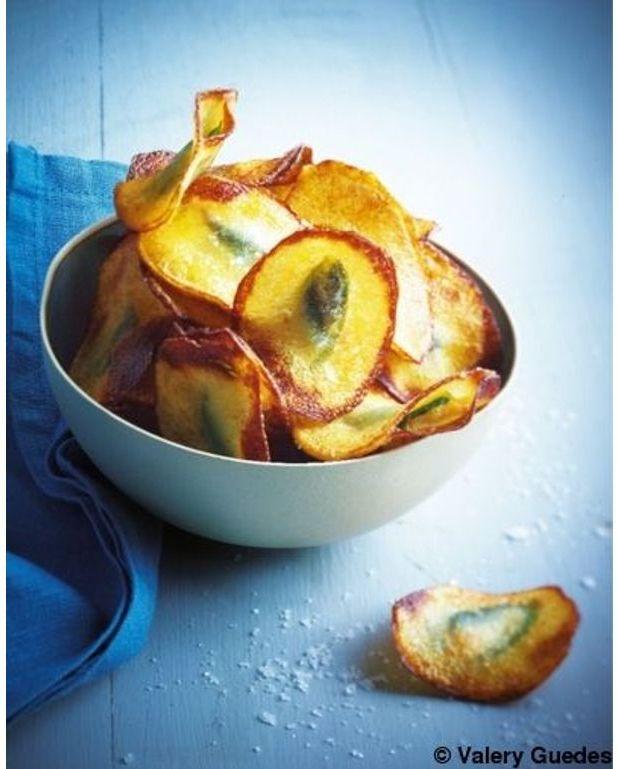 chips de pommes de terre farcies aux anchois et basilic pour 4 personnes recettes elle table. Black Bedroom Furniture Sets. Home Design Ideas