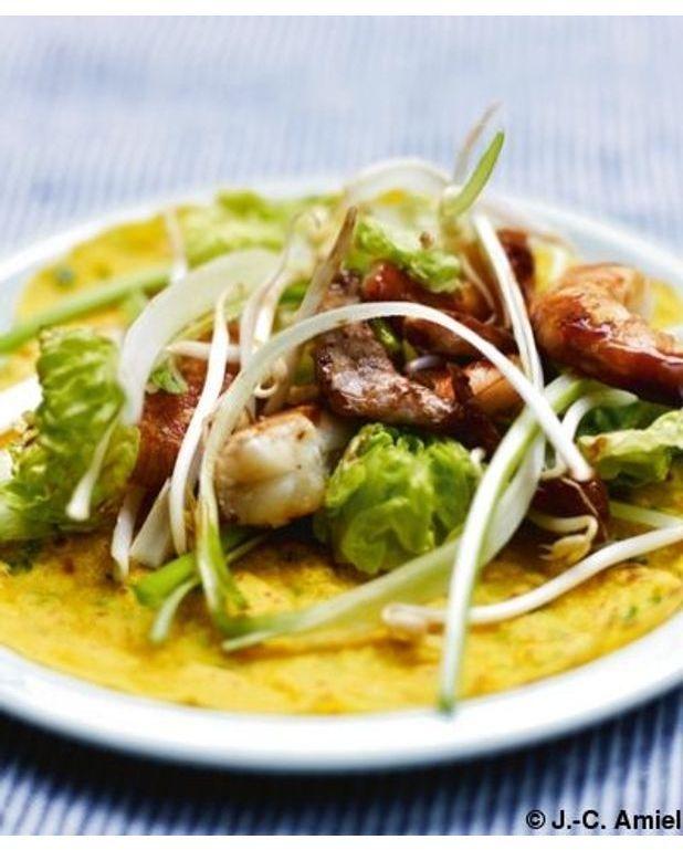 cr pes vietnamiennes la farine de riz pour 4 personnes recettes elle table. Black Bedroom Furniture Sets. Home Design Ideas