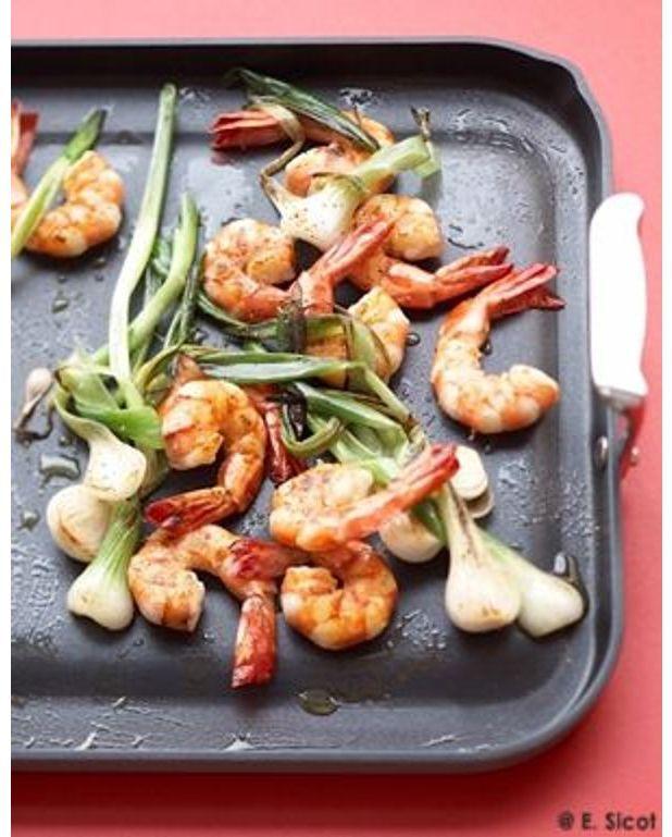 Crevettes au sak a la plancha pour 4 personnes recettes for Plancha de cuisine
