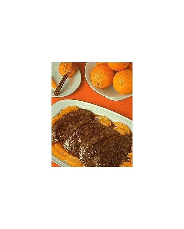 foie de veau l 39 orange pour 4 personnes recettes elle. Black Bedroom Furniture Sets. Home Design Ideas