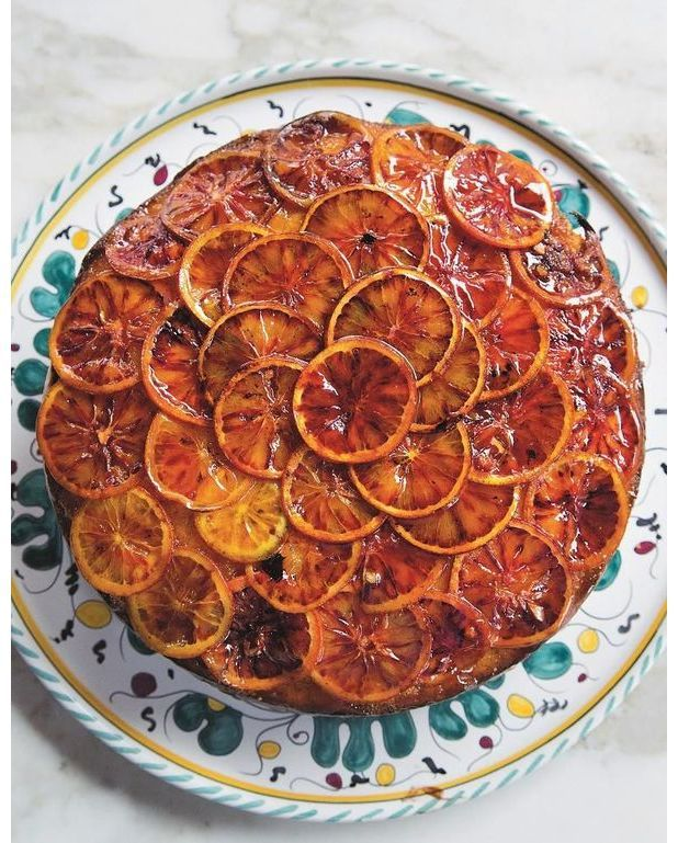 g teau de grand m re aux oranges sanguines pour 4 personnes recettes elle table. Black Bedroom Furniture Sets. Home Design Ideas