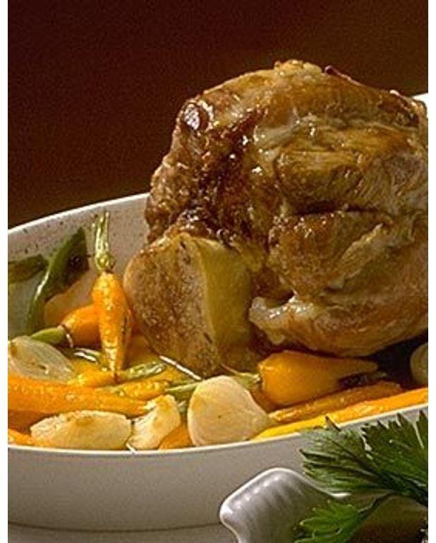 Jarret de veau brais l 39 ancienne pour 4 personnes recettes elle table - Jarret de veau au four ...