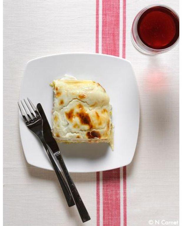 lasagnes v g tariennes courgette aubergine pour 6 personnes recettes elle table. Black Bedroom Furniture Sets. Home Design Ideas