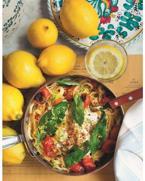 Linguine au citron et la stracciatella fum e pour 4 personnes recettes elle table - A bon verre bonne table recettes ...