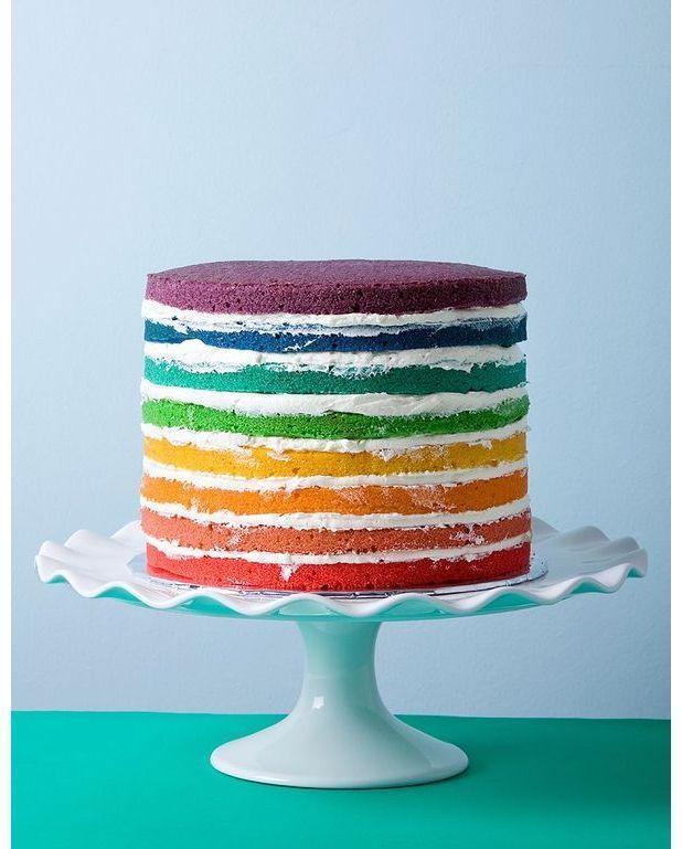 Recette Rainbow Cake Pour  Personnes