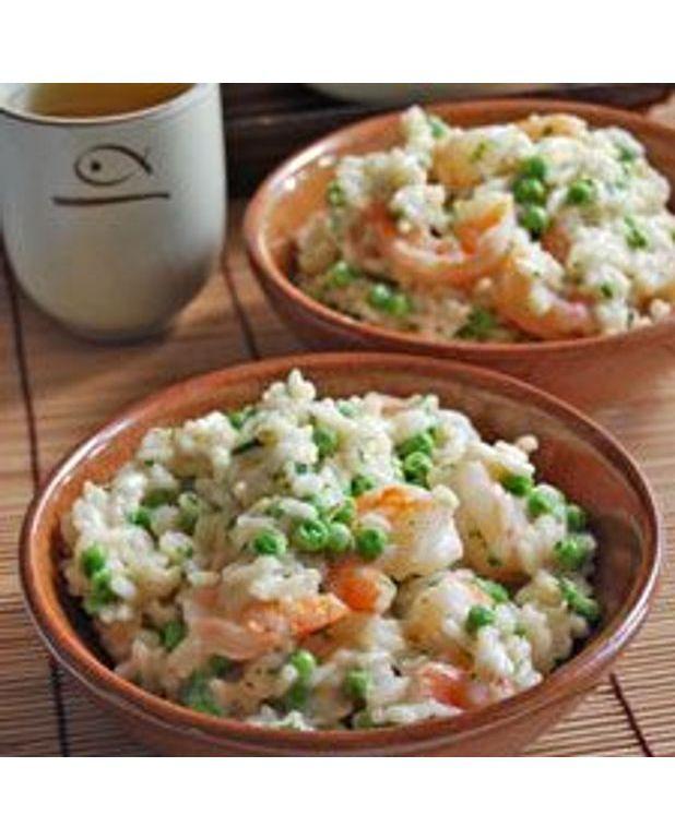 risotto asiatique aux crevettes pour 6 personnes recettes elle table. Black Bedroom Furniture Sets. Home Design Ideas