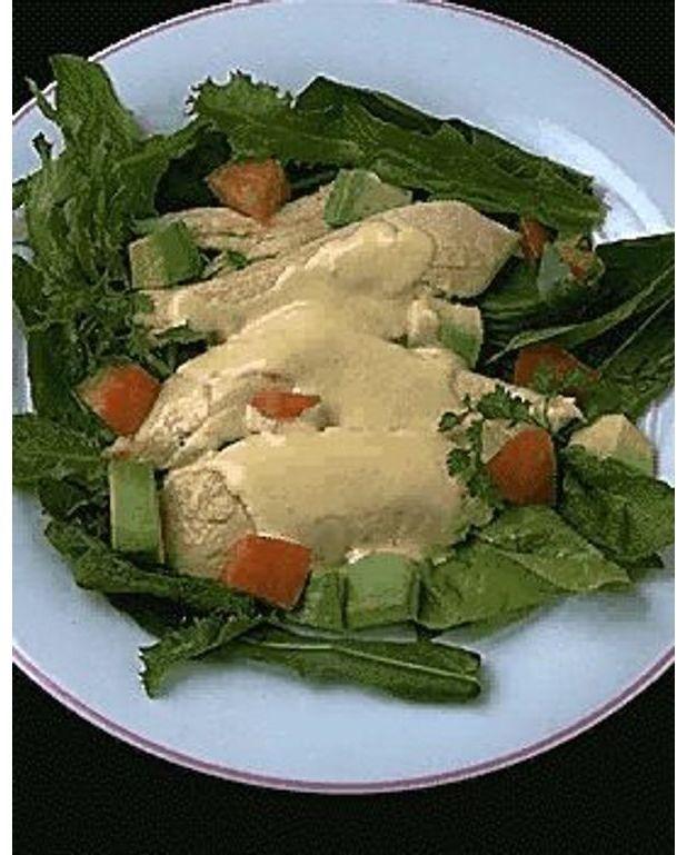 salade au blanc de poulet pour 4 personnes recettes elle table. Black Bedroom Furniture Sets. Home Design Ideas