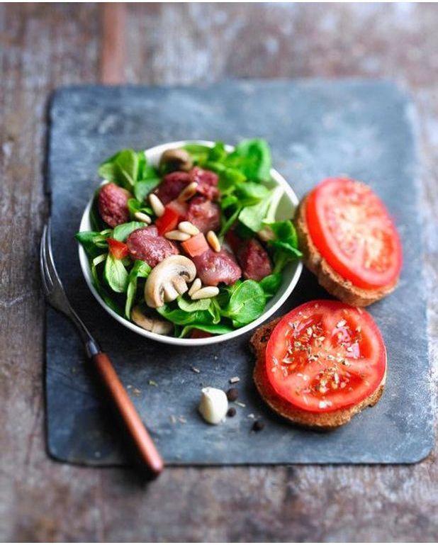 salade aux g siers confits pour 4 personnes recettes elle table. Black Bedroom Furniture Sets. Home Design Ideas
