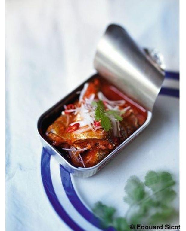 sardines la tomate fa on tha e pour 2 personnes recettes elle table. Black Bedroom Furniture Sets. Home Design Ideas