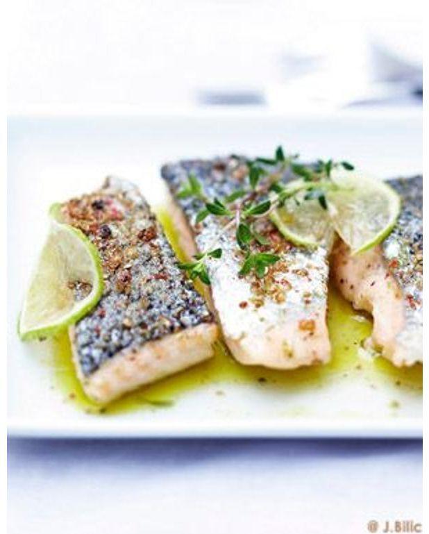 Saumon grill l unilat rale sauce thym citron pour 6 personnes recettes elle table - Sauce pour crustaces grilles ...