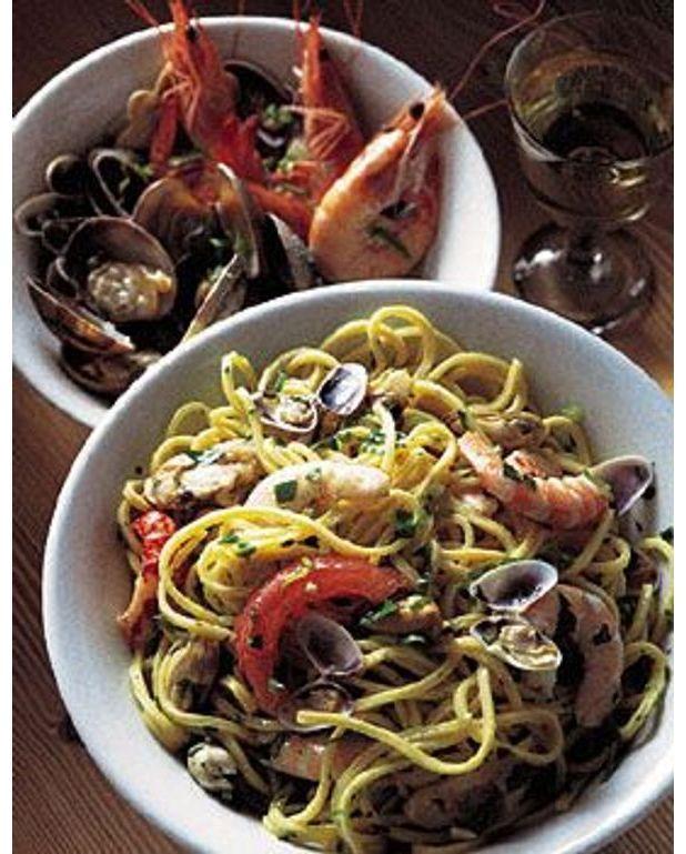 Spaghetti aux fruits de mer pour 4 personnes recettes elle table - Spaghetti aux fruits de mer ...