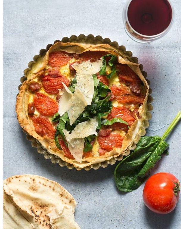 Tarte au pain libanais pour 2 personnes recettes elle - C est au programme recettes de cuisine ...